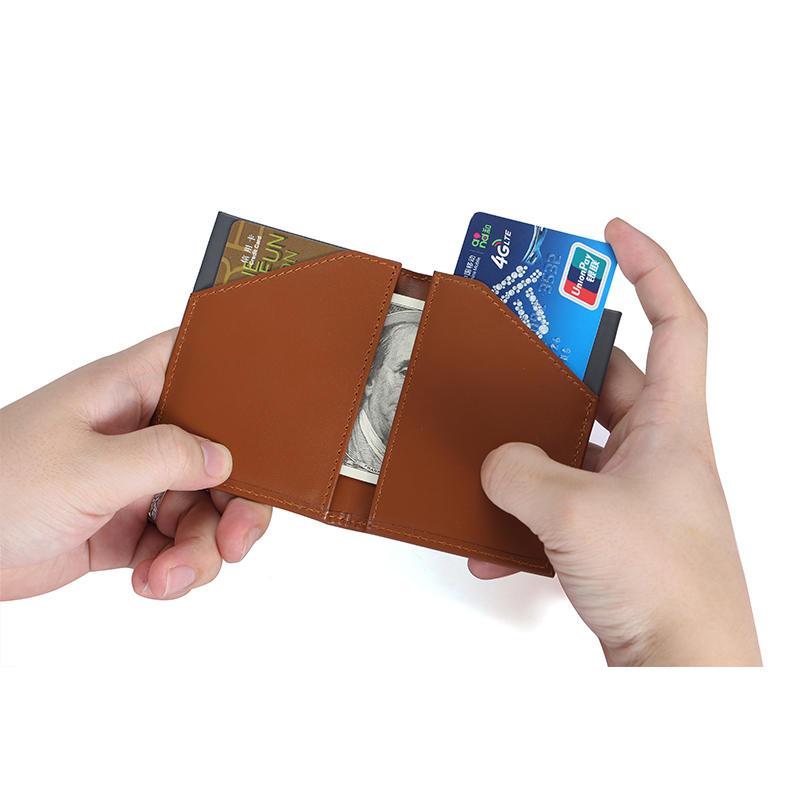 Slim Bifold Leather Wallet Front Pocket Credit Card Case Holder for Men with RFID Blocking LT-BMW082