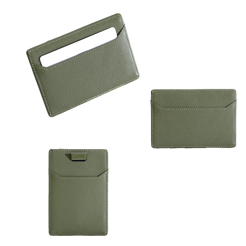 ODM/OEM ultra-slim leather RFID Card holder wallet