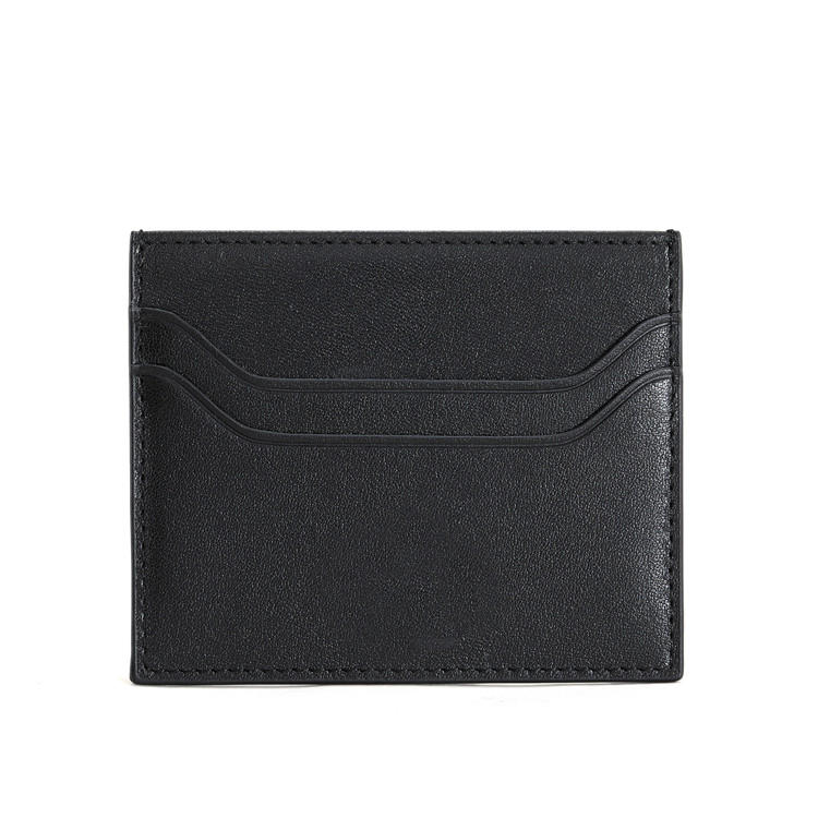 Front Pocket Minimalist Leather Slim RFID Card Holder Wallet LT-BMC105