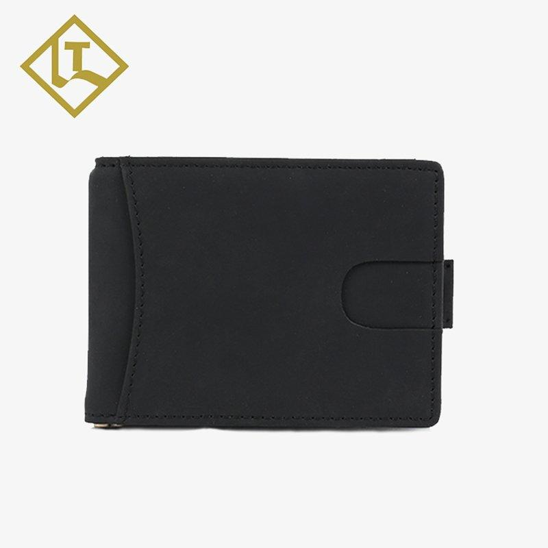 LITONG Brand holder credit handmade personalized leather money clip card