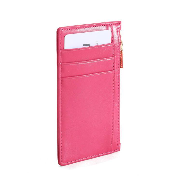slim leather hot sale leather credit card holder LITONG