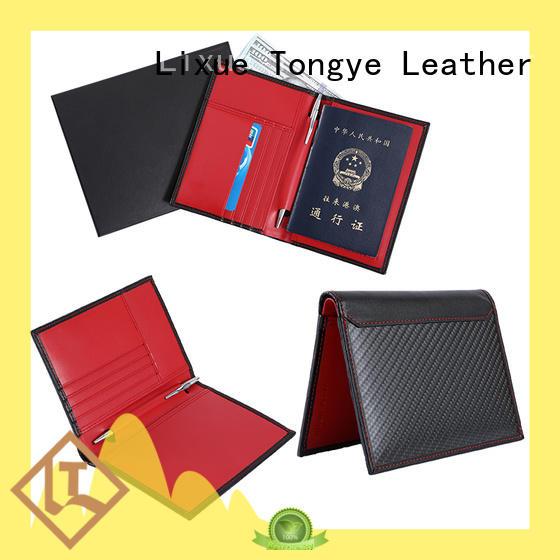 real handmade leather passport holder wholesale for passport LITONG