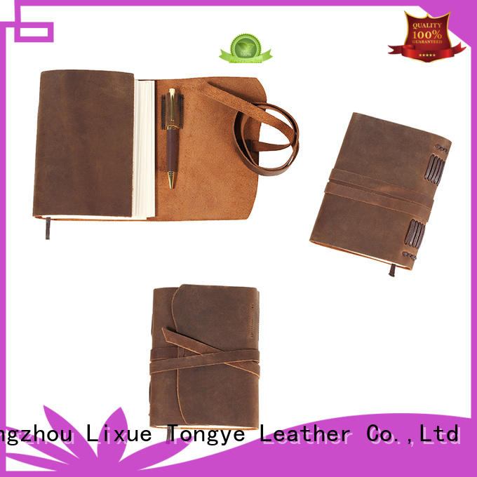 LITONG Brand daily diary leather bound notebook full