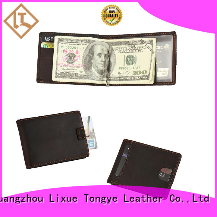 LITONG thin custom leather money clip certification for festival gift