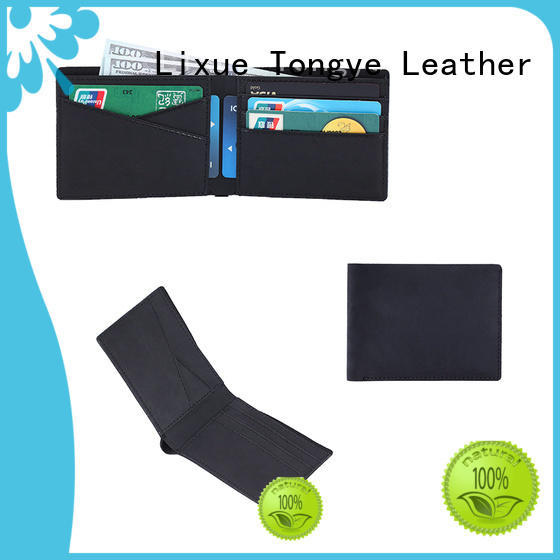 high quality slim leather wallet ltbmw041 for gift