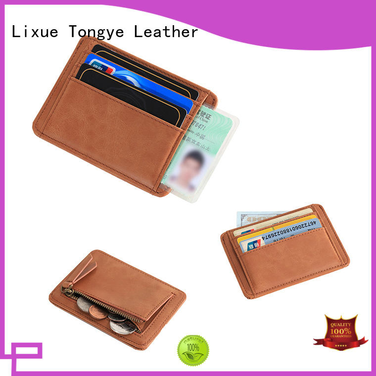 LITONG ultra leather credit card case wholesale for credit cards