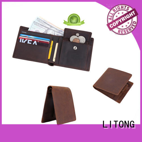 high quality slim leather wallet 100% quality for credit card