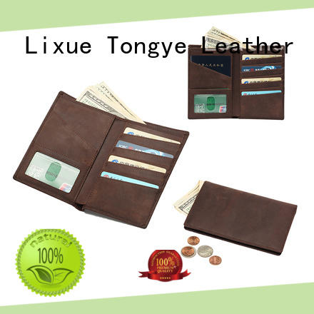 LITONG special custom leather passport holder owner for passport