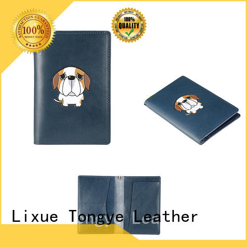 high end personalised leather passport holder hoder factory price for passport