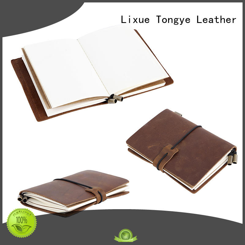 good to use leather bound diary daily overseas market for promotional gift