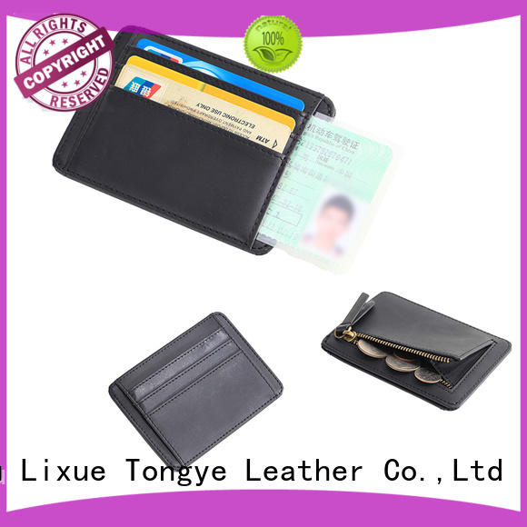 elegant leather id card holder wallets dropshipping for cash
