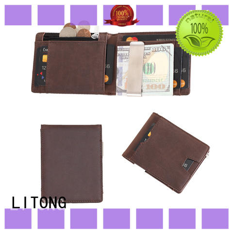 LITONG ltbmm062 leather money clip wholesale for travel