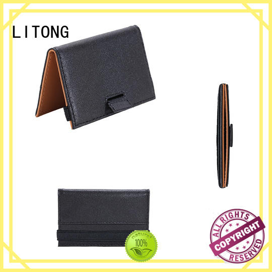 LITONG durable leather business card case owner for cash
