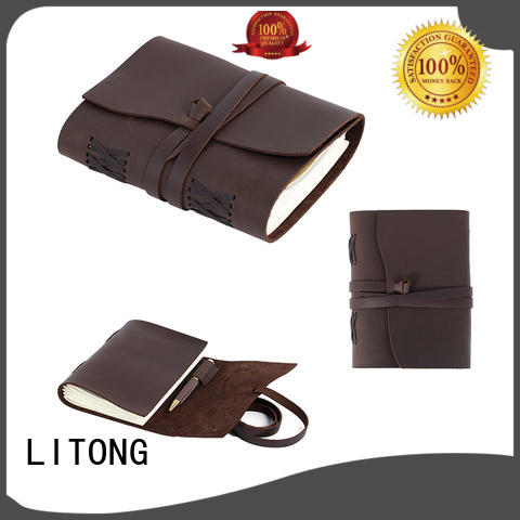 clip journal books leather full for daily life LITONG