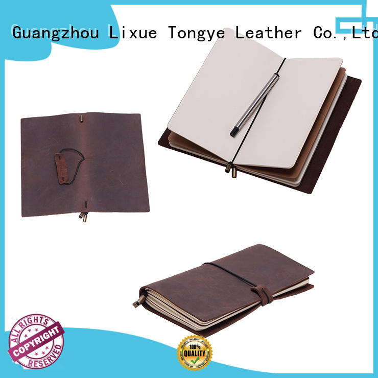 genuine vintage leather notebook daily LITONG Brand company