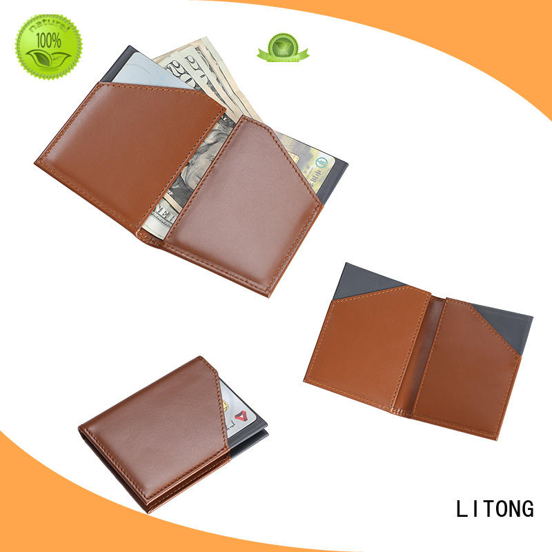 LITONG wallet best leather wallet bulk production for cash