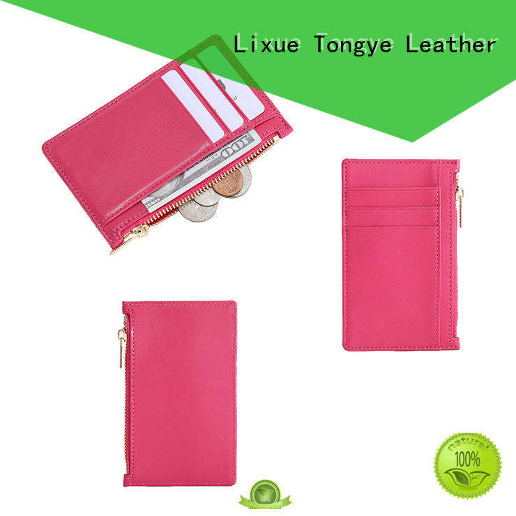 LITONG size leather credit card case dropshipping for shopping cards