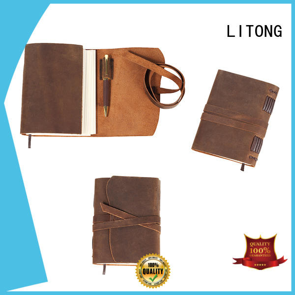 LITONG high-end leather journal overseas market for daily life