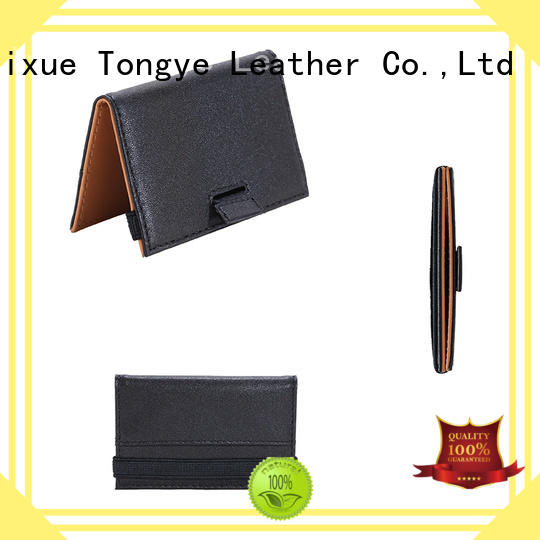 wallet leather customized logo leather credit card holder coin LITONG Brand