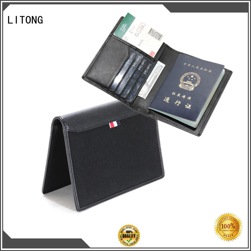 2018 Christmas gift hot selling custom rfid blocking full grain genuine leather nylon passport wallet leather passport cover