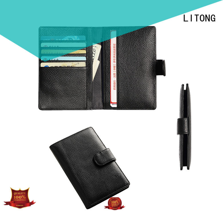 multi-function leather passport case ltbmp006 factory price for shopping cards