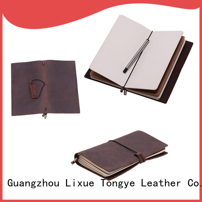 handmade leather notebook journal for promotional gift LITONG