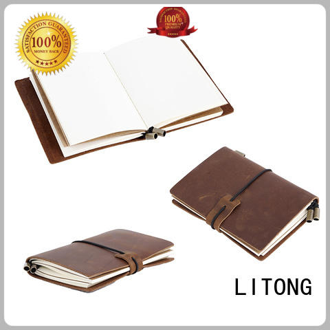 Wholesale Leather Diary Travel Journal Notebook Refillable Leather Cover LT-BMJ014