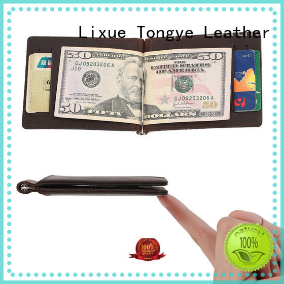 LITONG windows leather money clip card case dropshipping for business