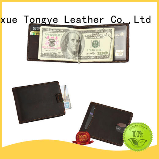 LITONG ltbmm039 genuine leather money clip bulk production for daily life