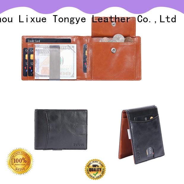 LITONG logo leather money clip certification for festival gift