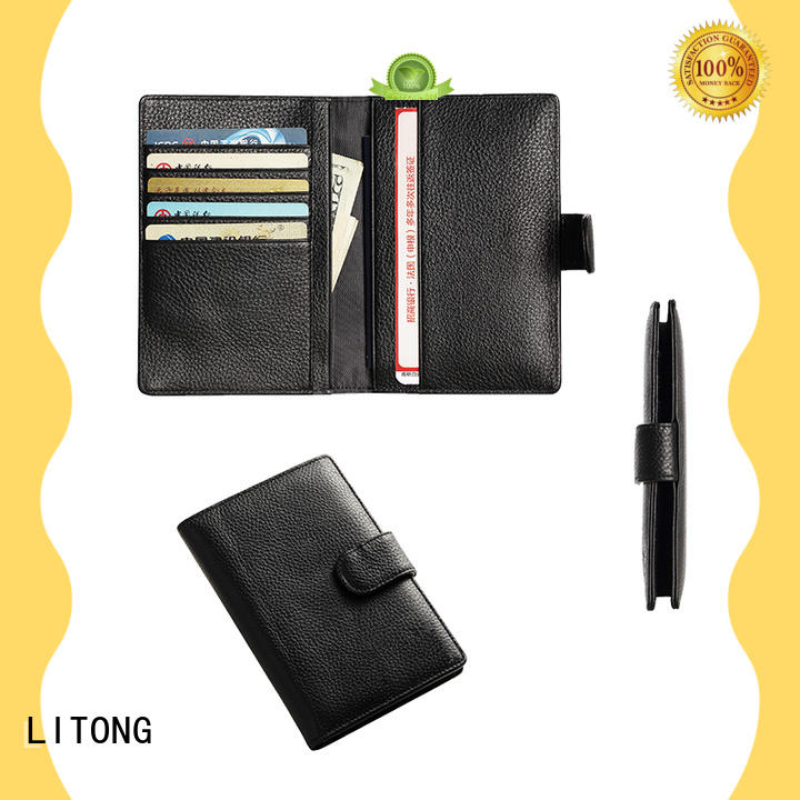 LITONG good looking best leather passport holder factory price for passport