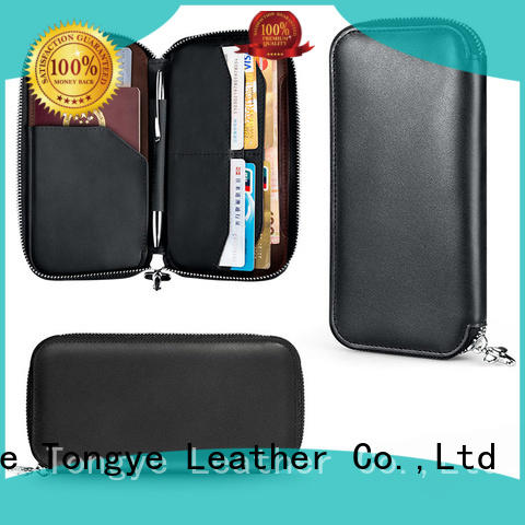 Zipper Passport Holder Wallet Rfid Leather Manufacturer