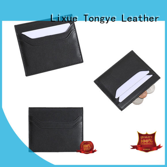 fashion design leather credit card case ltbmc106 owner for RFID blocking