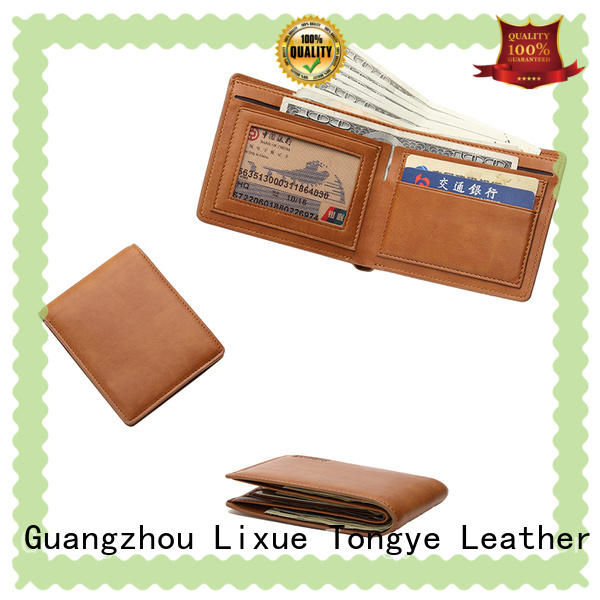 protection genuine leather wallet supplier for credit card