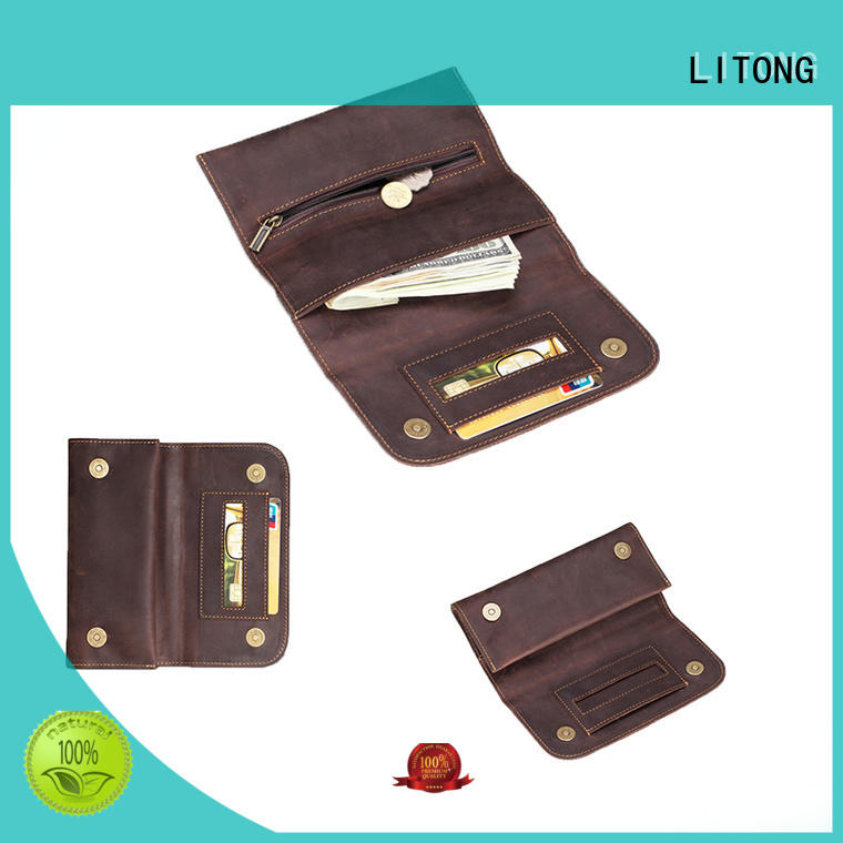 LITONG elegant leather laptop sleeve overseas market for pen