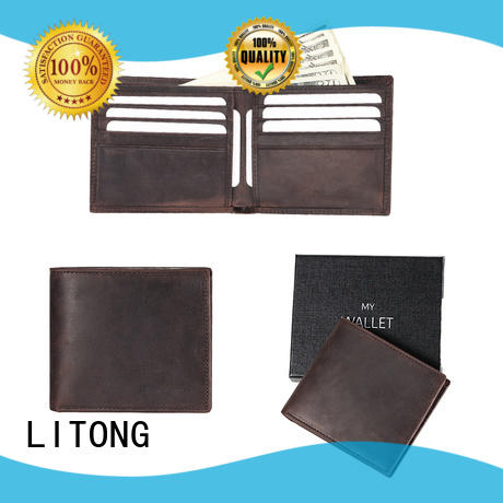 LITONG soft cool leather wallets shop now for man