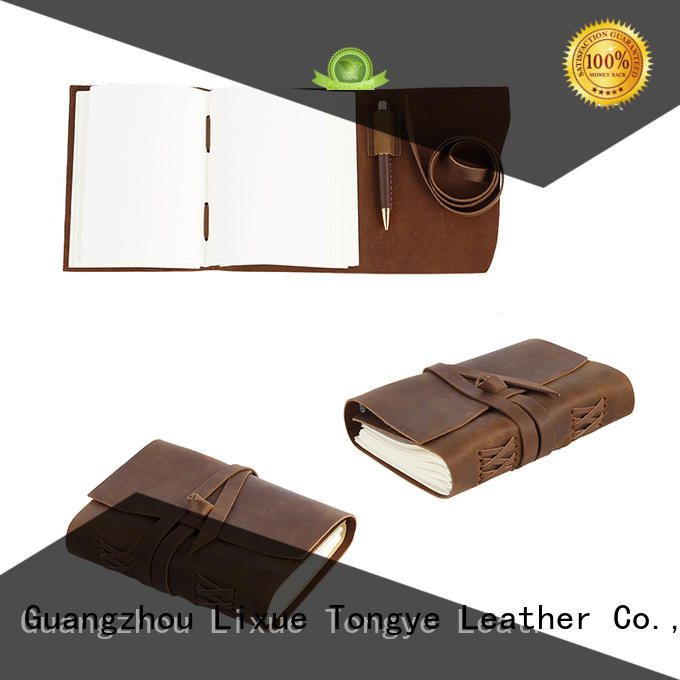 LITONG Brand refillable cow travel leather notebook manufacture