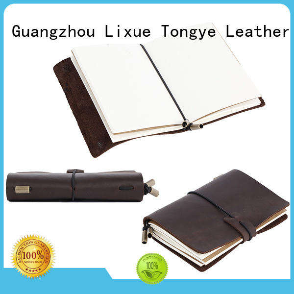 multi-function leather diary journal genuine leather for daily life