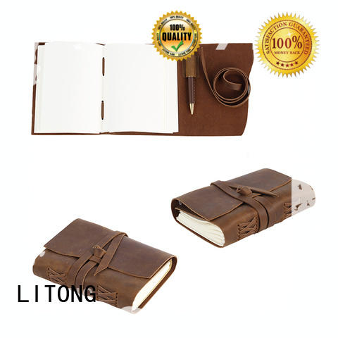 LITONG good to use leather travel journal stylish for travel