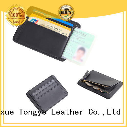 LITONG thin leather card holder wholesale for cash