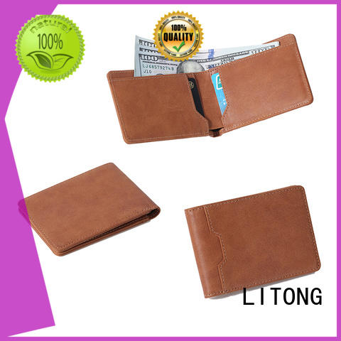LITONG luxucy leather travel wallet newly for gift