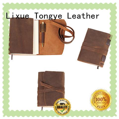 LITONG vintage leather traveler's notebook vendor for festival gift