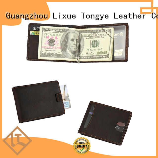 personalized leather money clip rfid LITONG Brand leather money clip