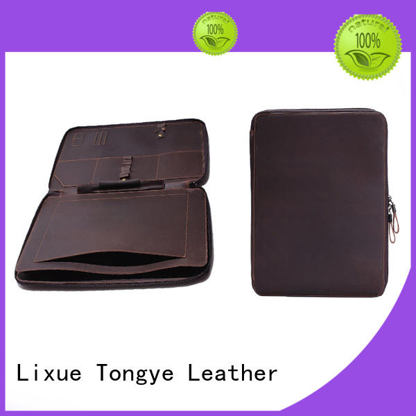durable mens leather briefcase bag stylish for pen LITONG