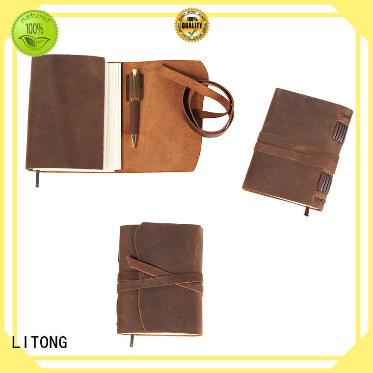 LITONG good-looking leather bound diary vendor for festival gift