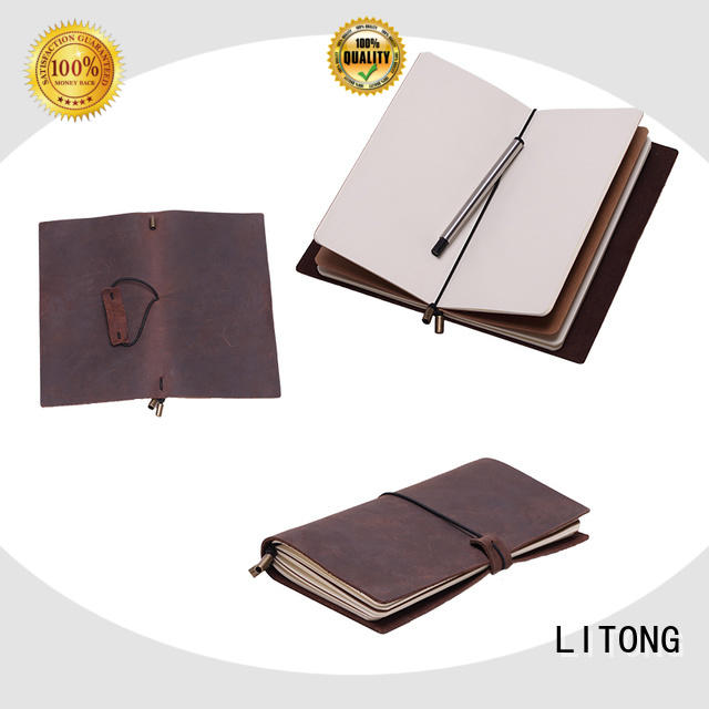 multi-function handmade leather journal cow for manufacturer for promotional gift