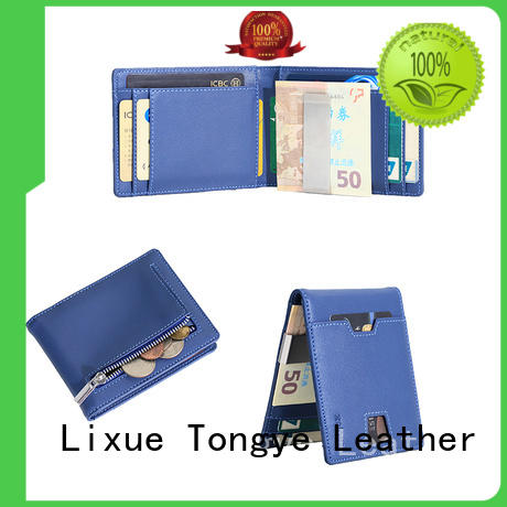 LITONG luxucy leather travel wallet bifold for woman