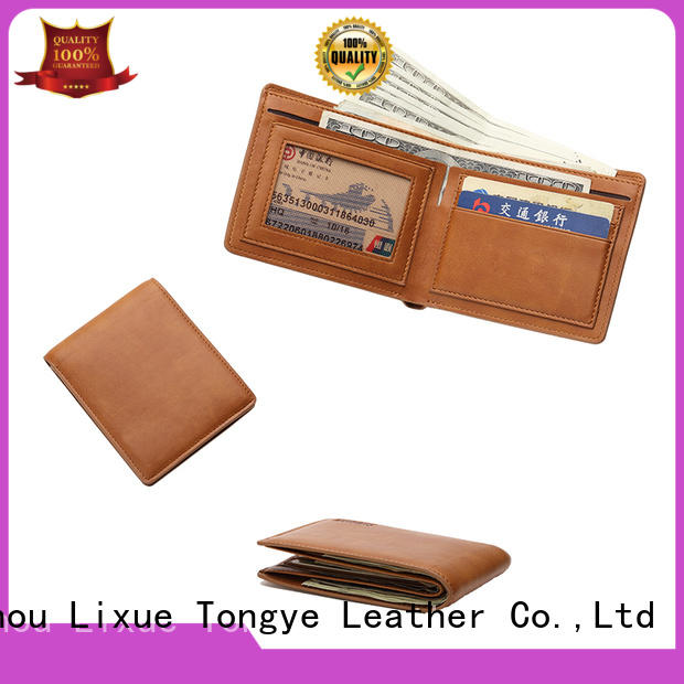 LITONG ltbmw042 personalized leather wallet producer for gift