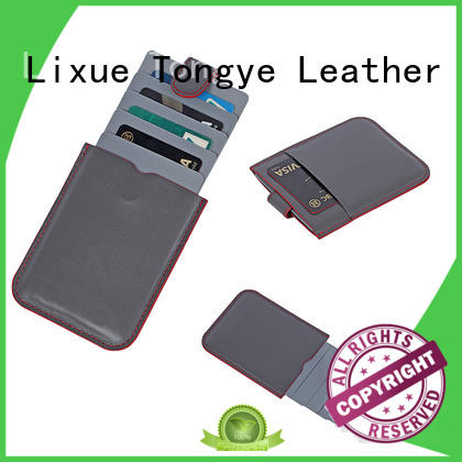 LITONG multi-function leather card holder dropshipping for RFID blocking