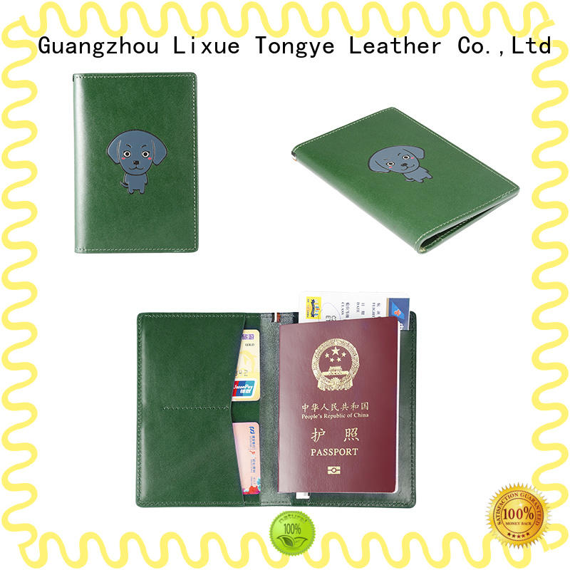 LITONG full real leather passport holder funtionable for shopping cards